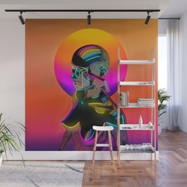 Android with a movie camera Wall Mural