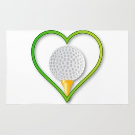 Love Golf Rug