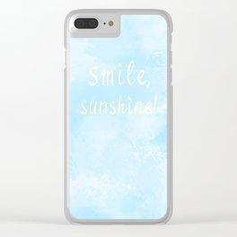 Smile, sunshine! Clear iPhone Case