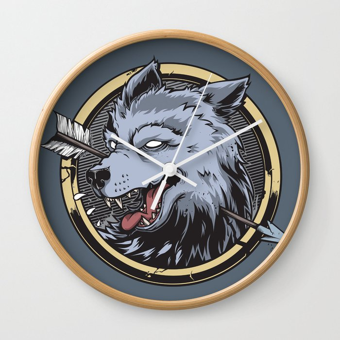 Wolf hunter Wall Clock