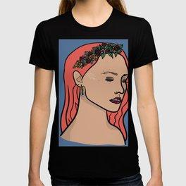 Tiara Flower Crown Girl Coloured Version T-shirt