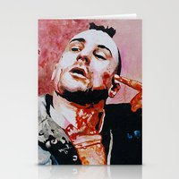 taxi driver Stationery Cards featuring Taxi driver by BaconFactory