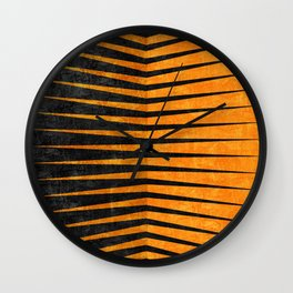 Yellow / Black - Geometric Wall Clock