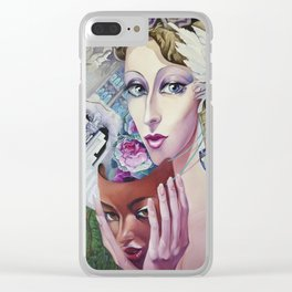 Lady Europe Clear iPhone Case
