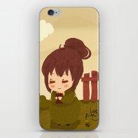 jane austen iPhone & iPod Skins featuring Jane Austen - Lizzy Bennet by Vale Bathory