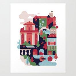 Ljubljana, Slovenia Art Print