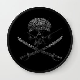 Type Pirate Wall Clock