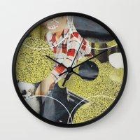 pony Wall Clocks featuring PONY by WeLoveHumans