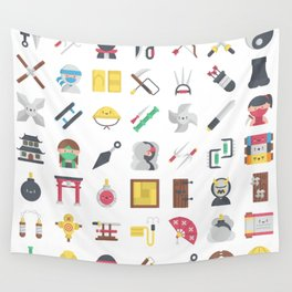 CUTE NINJA PATTERN Wall Tapestry