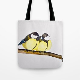 A Pair of Great Tits Tote Bag