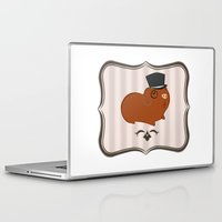 guinea pig Laptop & iPad Skins featuring Mr Guinea Pig by Jo Sharp