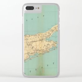 Vintage Map of Suffolk County NY (1895) Clear iPhone Case