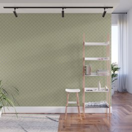 Mellow Purple on Earthy Green Parable to 2020 Color of the Year Back to Nature Angled Grid Pattern Wall Mural