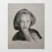 scully Canvas Prints featuring Scully by William Buck