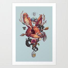 JACKALOPE Chimera Art Print