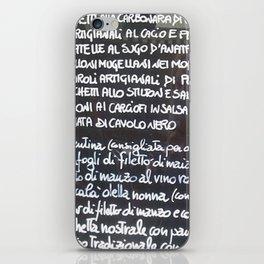 Italian menu iPhone Skin