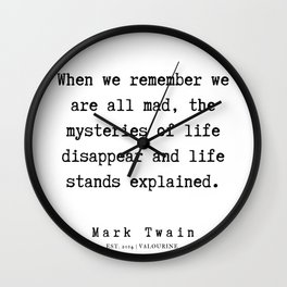 44   | Mark Twain Quotes | 190730 Wall Clock
