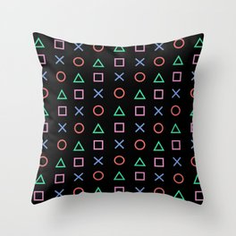 Classic Play Station Controller Buttons Throw Pillow