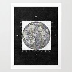 Moon Scale [Sans Black] Art Print