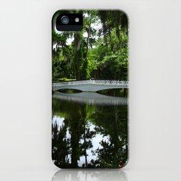 White Bridge On Magnolia Plantation iPhone Case