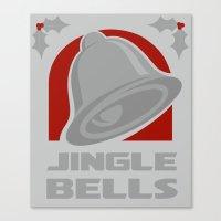 Jingle Bell - Silver Canvas Print