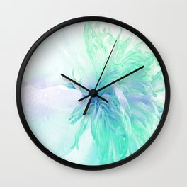 White Peony In A Different Light Wall Clock