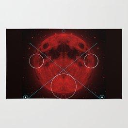 Red Moon Graphish. Rug