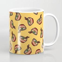 Ramen Bowl Pattern in Orange Coffee Mug