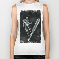 silver Biker Tanks featuring Silver by Scofield Designs