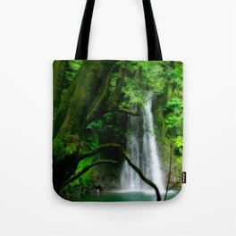 Waterfall in Azores islands Tote Bag