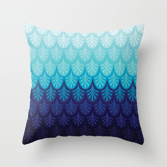 Arctic Ombre! Throw Pillow