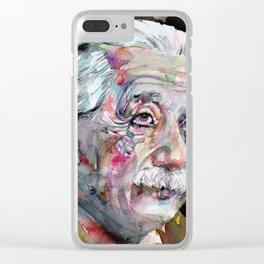 ALBERT EINSTEIN - watercolor portrait.5 Clear iPhone Case