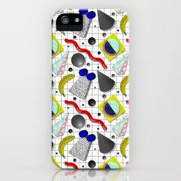 Memphis Milano X Harlem Shake Style iPhone Case