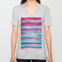 9    | 191128 | Abstract Watercolor Pattern Painting Unisex V-Neck