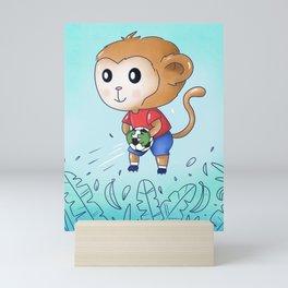 Soccer Monkey Mini Art Print