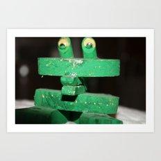 Clip Frog Art Print