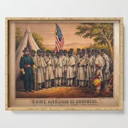1863 Philadelphia, Pennsylvania African American Civil War Requirement Broadside Advertisement Poste Serving Tray