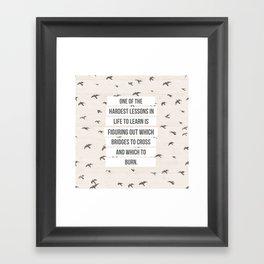 life lessons Framed Art Print