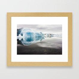 Iceberg Lagoon Framed Art Print