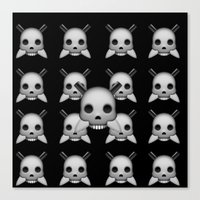 skeletor Canvas Prints featuring Skeletor by Mountain View Art