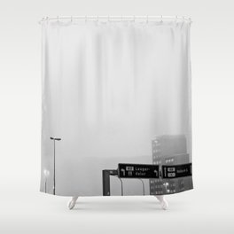 Reykjavík in the mist 2 Shower Curtain