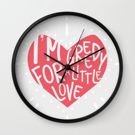 Greedy Love Wall Clock