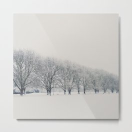 a snow day in Cambridge Metal Print