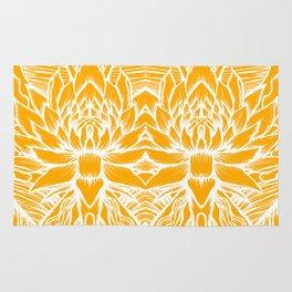 Golden Yellow Lotus Rug
