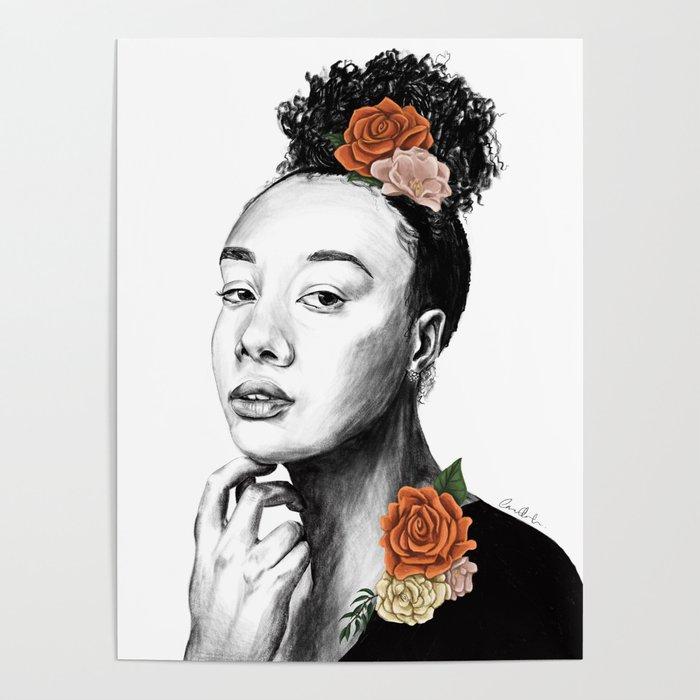 Autumn petals - floral portrait 2 of 3 Poster