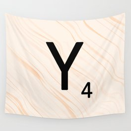 Scrabble Letter Y - Scrabble Art and Apparel Wall Tapestry