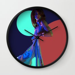The Nighttime Covers Wall Clock