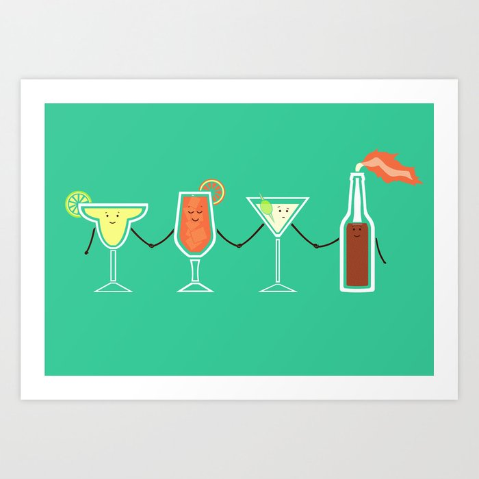 Cocktails! Art Print