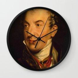 Thomas Lawrence - Portrait of Prince Klemens Wenzel Lothar von Metternich (1773-1859) Wall Clock