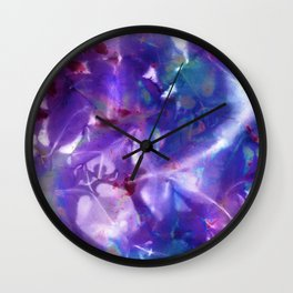 Blue Stargazer Floral Wall Clock